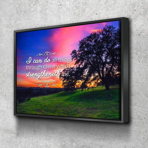 Philippians 4:13 KJV #2 Bible Verse Canvas Wall Art