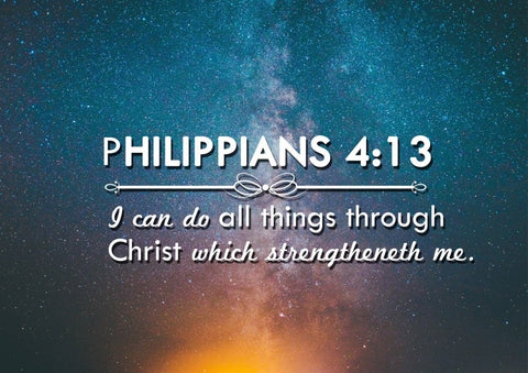 Philippians 4:13 KJV #4 Bible Verse Canvas Wall Art