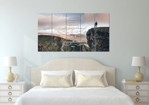 Philippians 4:13 KJV #7 Bible Verse Canvas Wall Art