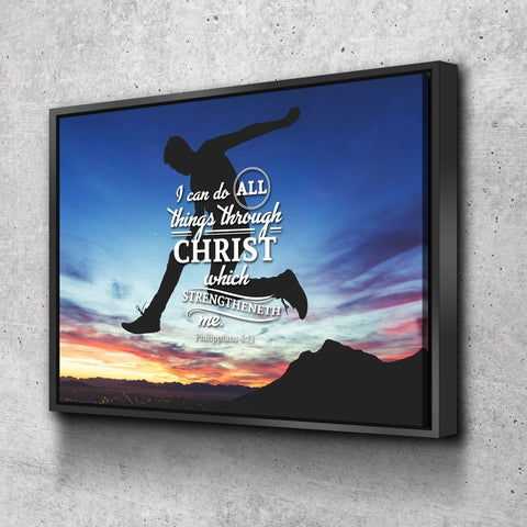 Philippians 4:13 KJV #8 Bible Verse Canvas Wall Art
