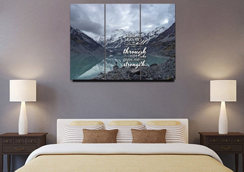Philippians 4:13 NIV #10 Bible Verse Canvas Wall Art