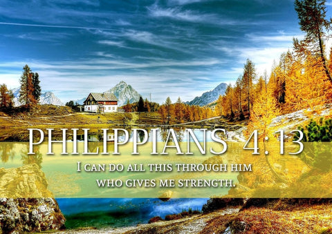 Philippians 4:13 NIV #11 Bible Verse Canvas Wall Art