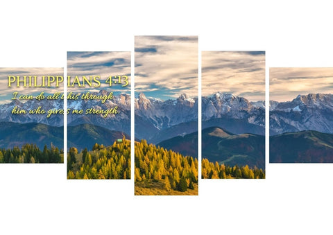 Philippians 4:13 NIV #12 Bible Verse Canvas Wall Art