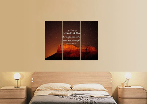 Philippians 4:13 NIV #5 Bible Verse Canvas Wall Art
