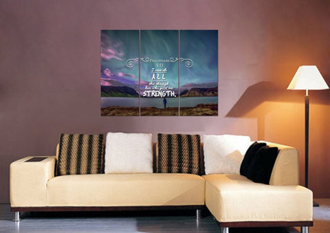 Philippians 4:13 NIV #6 Bible Verse Canvas Wall Art