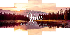 Philippians 4:13 NIV I Can Do All Things Through Christ Bible Verse Canvas Wall Art