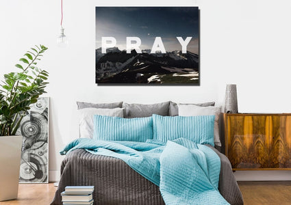Pray Christian Quote Wall Art Canvas