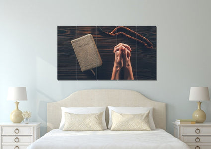 Praying Hands in Prayer Wall Art #29 Canvas