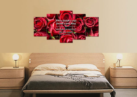 Proverbs 18:22 Whoso findeth a wife findeth a good thing Bible Verse Wall Art Canvas