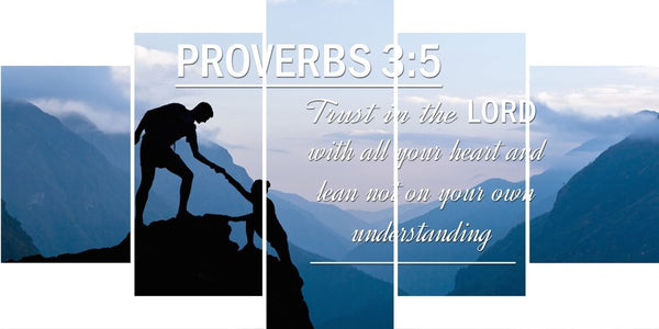 Proverbs 3:5 #1 NIV Trust in the Lord Bible Verse Wall Art Canvas