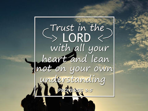 Proverbs 3:5 #2 NIV Trust in the Lord Bible Verse Wall Art Canvas