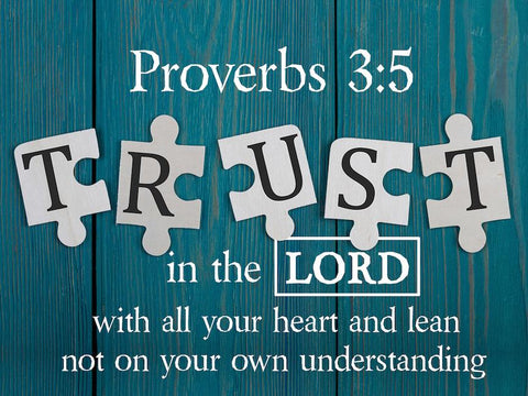 Proverbs 3:5 #4 NIV Trust in the Lord Bible Verse Wall Art Canvas
