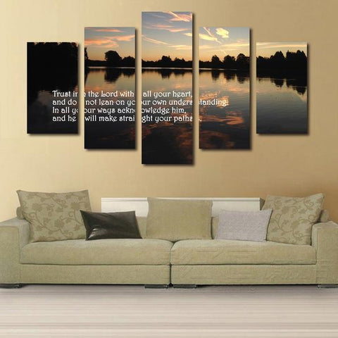 Proverbs 3:5 #4 trust in the lord with all your heart bible verse on multi panel canvas wall art
