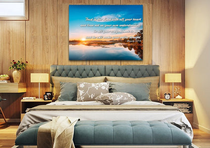 Proverbs 3:5-6 #10 NIV Trust in the Lord Bible Verse Canvas Wall Art
