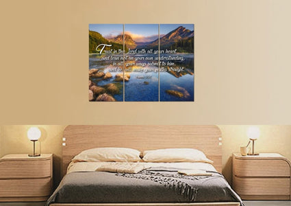 Proverbs 3:5-6 #11 NIV Trust in the Lord Bible Verse Canvas Wall Art