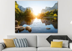 Proverbs 3:5-6 #17 KJV 'Trust in the Lord' Christian Scripture Wall Art Canvas