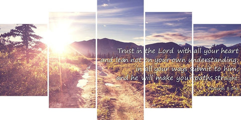 Proverbs 3:5-6 #20 'Trust in the Lord with all your Heart' Bible Verse Canvas Wall Art