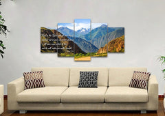 Proverbs 3:5-6 #21 'Trust in the Lord with all your Heart' Bible Verse Canvas Wall Art