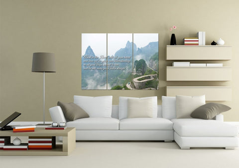 Image of Proverbs 3:5-6 #26 'Trust in the Lord with all your Heart' Bible Verse Canvas Wall Art