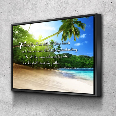 Proverbs 3:5-6 #2a KJV 'Trust in the Lord' Christian Scripture Wall Art Canvas