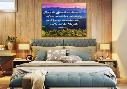 Proverbs 3:5-6 #3 KJV 'Trust in the Lord' Christian Scripture Wall Art Canvas