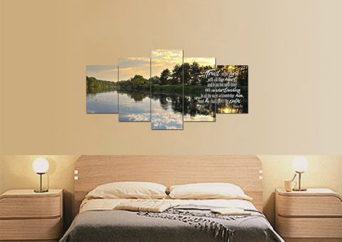 Proverbs 3:5-6 #31 KJV 'Trust in the Lord with all Thine Heart' Christian Scripture Wall Art Canvas