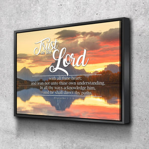 Proverbs 3:5-6 #39 KJV 'Trust in the Lord with all Thine Heart' Christian Scripture Wall Art Canvas