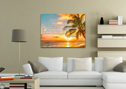 Proverbs 3:5-6 #4 KJV 'Trust in the Lord' Christian Scripture Wall Art Canvas