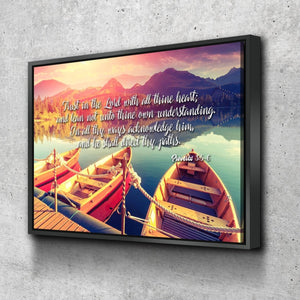 Proverbs 3:5-6 #5 KJV 'Trust in the Lord' Christian Scripture Wall Art Canvas