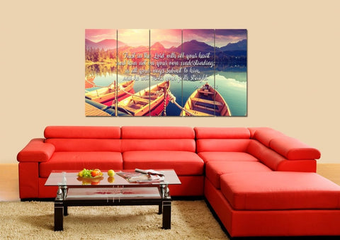 Proverbs 3:5-6 #5 NIV Trust in the Lord Christian Scripture Wall Art Canvas