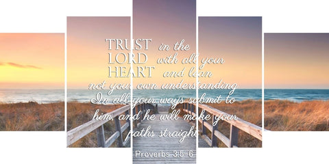 Image of Proverbs 3:5-6 #9 NIV In all your ways submit to him Bible Verse Wall Art Canvas