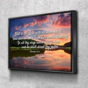 Proverbs 3:5-6 #6 KJV 'Trust in the Lord' Christian Scripture Wall Art Canvas