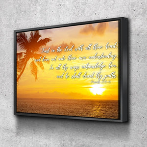 Proverbs 3:5-6 #7 KJV 'Trust in the Lord' Christian Scripture Wall Art Canvas
