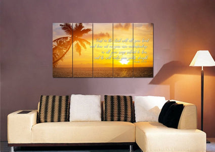 Proverbs 3:5-6 #7 NIV Trust in the Lord Christian Scripture Wall Art Canvas