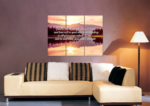 Proverbs 3:5-6 #8 NIV Trust in the Lord Christian Scripture Wall Art Canvas