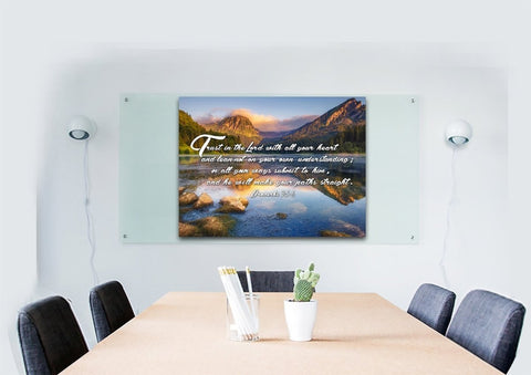 Proverbs 3:5-6 #9 NIV Trust in the Lord Bible Verse Canvas Wall Art