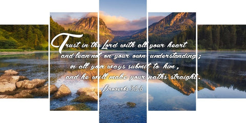 Image of Proverbs 3:5-6 #9 NIV Trust in the Lord Bible Verse Canvas Wall Art
