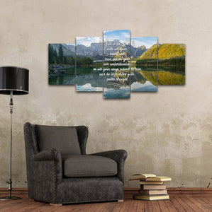 Proverbs 3:5-6 NIV #48 Bible Verse Canvas Wall Art