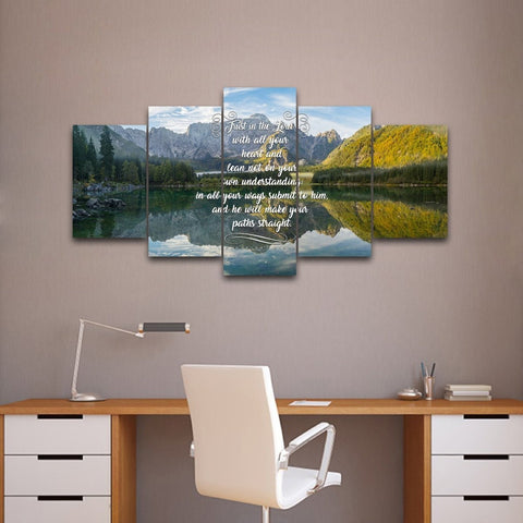 Image of Proverbs 3:5-6 NIV #48 Bible Verse Canvas Wall Art