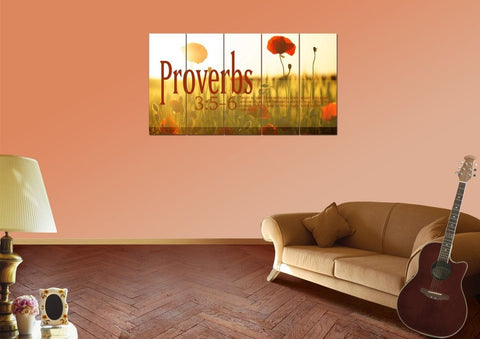 Image of Proverbs 3:5-6 NIV #53 Bible Verse Canvas Wall Art