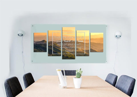 Image of Proverbs 3:5 #7 NIV Trust in the Lord Bible Verse Wall Art Canvas