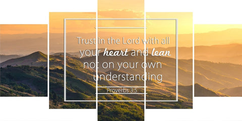 Proverbs 3:5 #7 NIV Trust in the Lord Bible Verse Wall Art Canvas