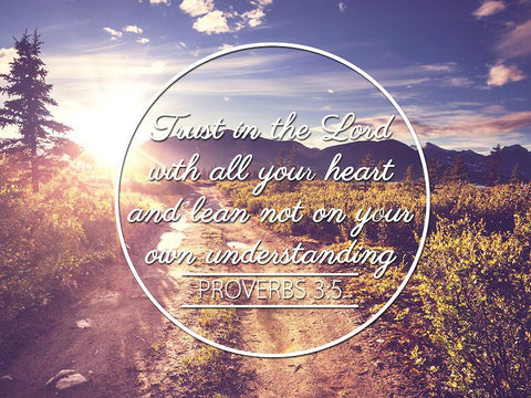 Image of Proverbs 3:5 #8 NIV Trust in the Lord Bible Verse Wall Art Canvas