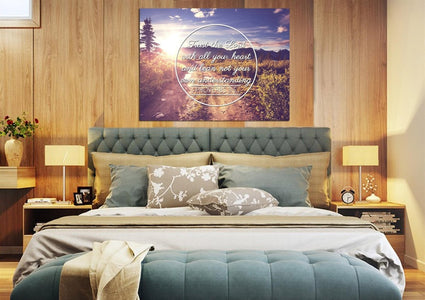 Proverbs 3:5 #8 NIV Trust in the Lord Bible Verse Wall Art Canvas