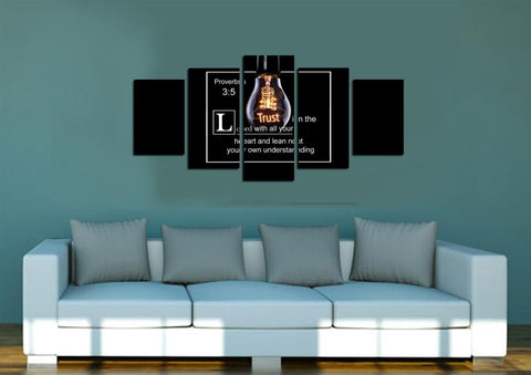 Proverbs 3:5 #9 NIV Trust in the Lord Bible Verse Wall Art Canvas