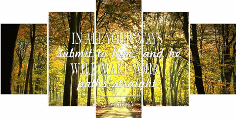 Proverbs 3:6 #6 NIV In all your ways submit to him Bible Verse Wall Art Canvas