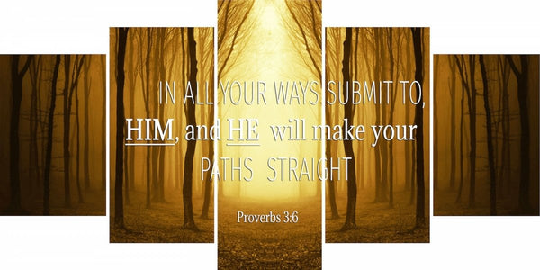 Proverbs 3:6 #7 NIV In all your ways submit to him Bible Verse Wall Art Canvas