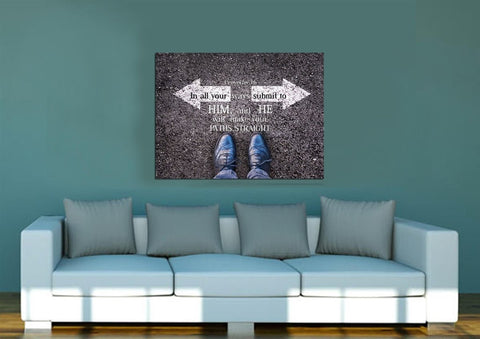 Proverbs 3:6 #8 NIV In all your ways submit to him Bible Verse Wall Art Canvas