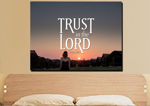 Psalm 125:1 Trust in the Lord Canvas Wall Art Print - Christian Walls