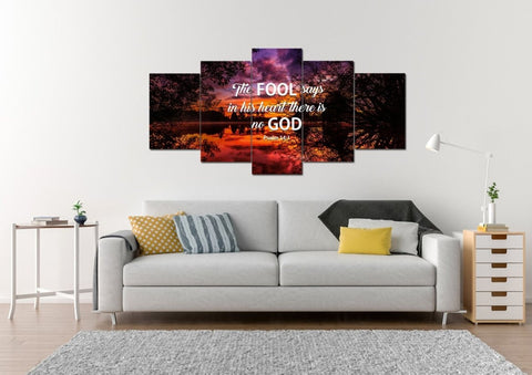 Psalm 14:1 Canvas Wall Art Print - Christian Walls